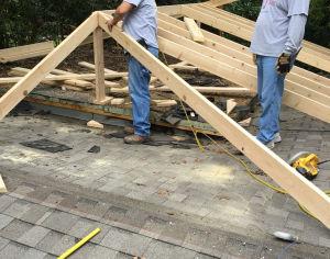 Peak roof installation