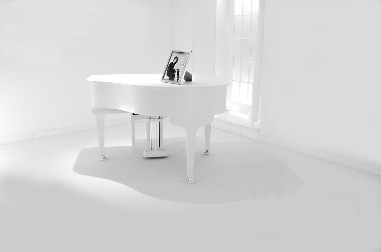 Piano Room, Acoustic ceilings, Need a little color to your room?