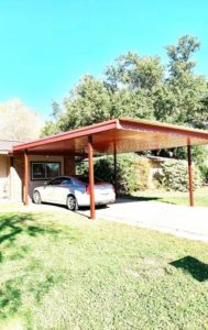 Carports protect you and your vehicles from our extreme Texas weather.